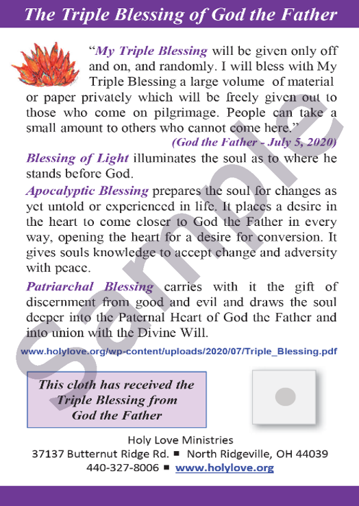 Sample Image of Triple Blessing Card